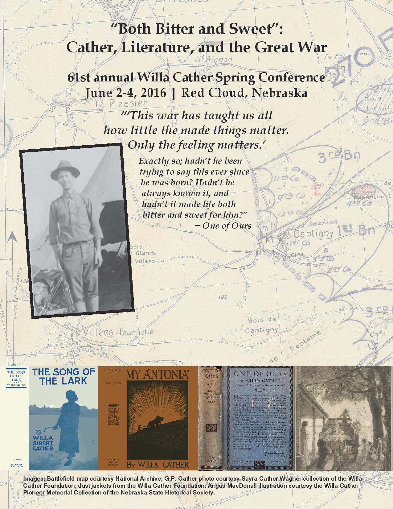 St Annual Willa Cather Spring Conference The Willa Cather - Willa cather us map
