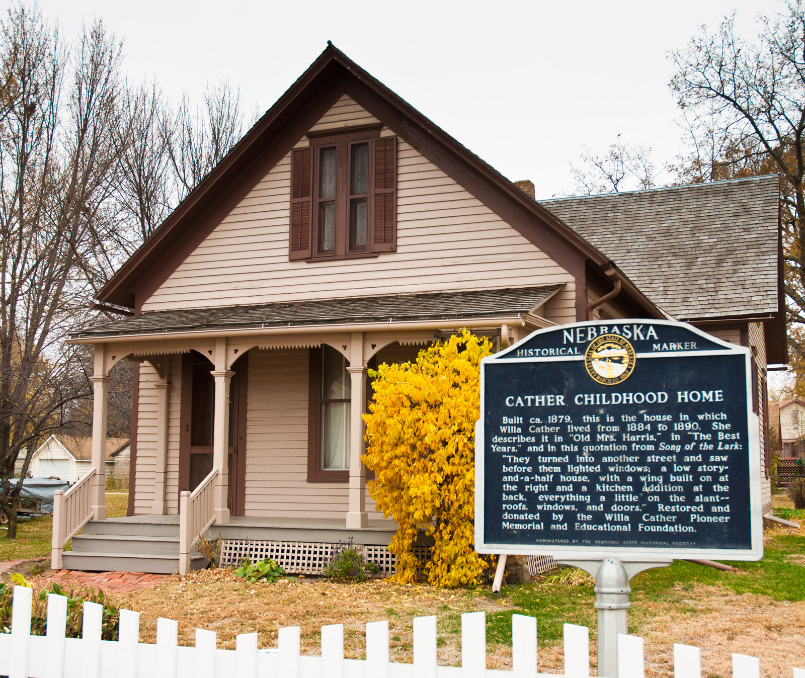 Willa Cathers Childhood Home The Willa Cather Foundation - Willa cather us map