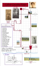 Country Tour The Willa Cather Foundation Willa Cather Red - Willa cather us map
