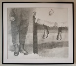 """Pencil, """"Rick and Esther"""", 22"""" H x 28"""" W, $325"""