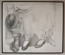 """Pencil, """"Wedding Shoes #2"""", 20"""" H X 24"""" W, Not for Sale"""